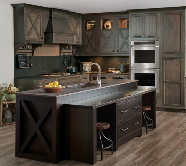 inset cabinets kitchen dark wood with inset cabinet on the kitchen island